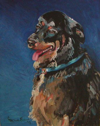 """Blue Dog"" by Suzanne Etienne"