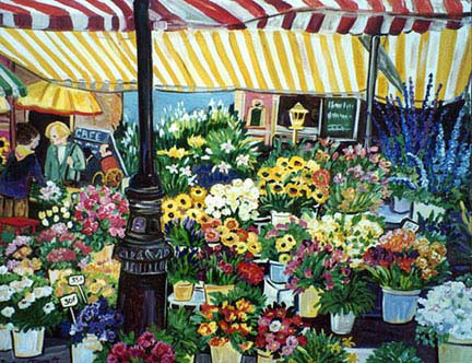 """Paris Flower Market"" by Suzanne Etienne"
