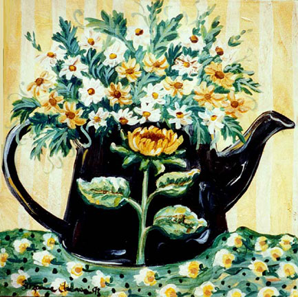 Teapot - Daisy by Suzanne Etienne